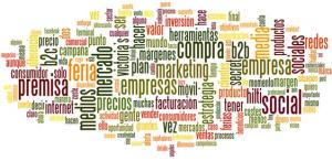 Nube de tags Blogosfera de marketing diciembre 2011