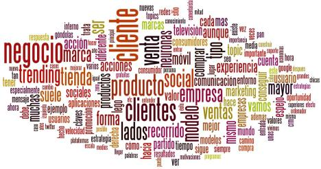Nube de tags Blogosfera de marketing Enero 2012