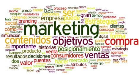 Nube de tags Blogosfera de marketing Marzo 2012