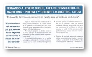 Esperanzas y realidades del Comercio Electrónico en España / Muñoz, Pedro A