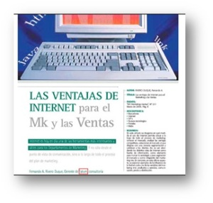 Las ventajas de Internet para el Marketing y las Ventas